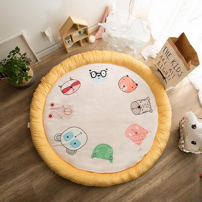 圆形半脱卸款宝宝绒防护地垫 直径150 动物联盟