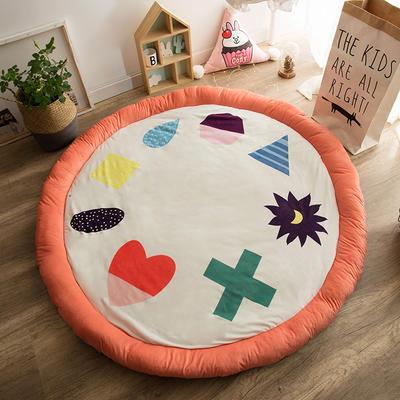 圆形半脱卸款宝宝绒防护地垫 直径150 小可爱