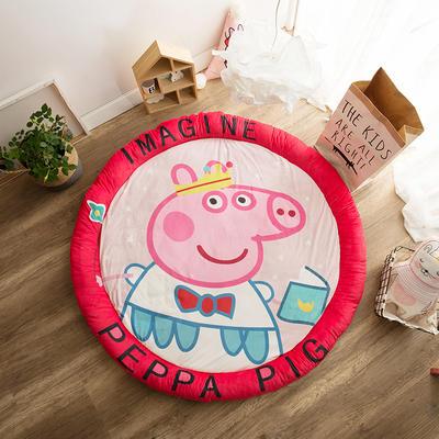 圆形半脱卸款宝宝绒防护地垫 直径150 小猪佩奇