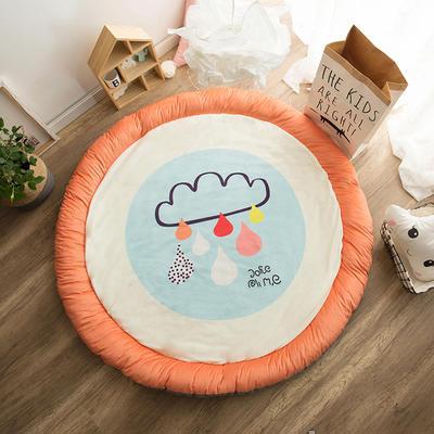圆形半脱卸款宝宝绒防护地垫 直径150 雨云