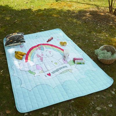 小号长方形防水野餐垫 140x200cm 彩虹小马