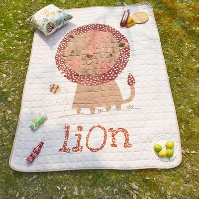 小号长方形防水野餐垫 140x200cm 小狮子