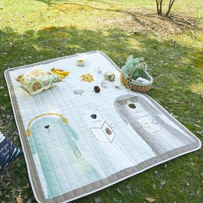 小号长方形防水野餐垫 140x200cm 三个好朋友