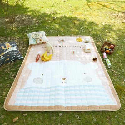 小号长方形防水野餐垫 140x200cm 小熊的梦想金色