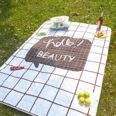 小号长方形防水野餐垫 140x200cm 嗨!美人