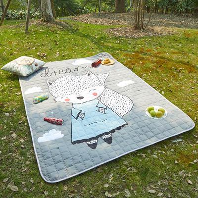小号长方形防水野餐垫 140x200cm 狐狸宝宝