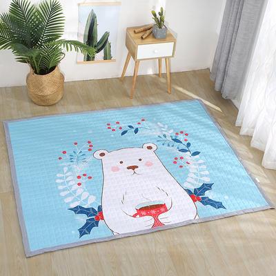 小号长方形防水野餐垫 140x200cm 北极熊