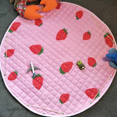 2018新款圆形收纳小号地垫 110x110cm 小草莓