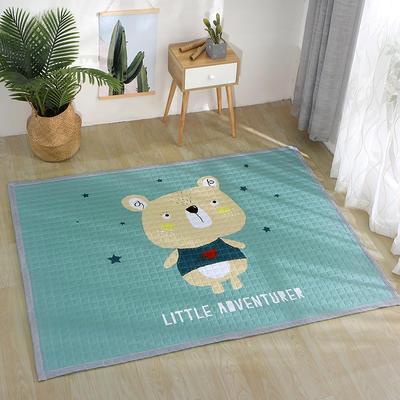 北欧风长方形加厚地垫儿童爬爬垫 150x200cm 可爱小熊