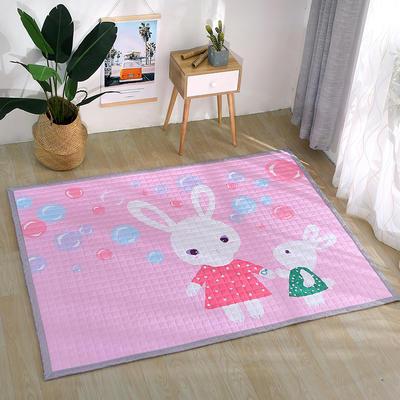 北欧风长方形加厚地垫儿童爬爬垫 150x200cm 兔宝宝