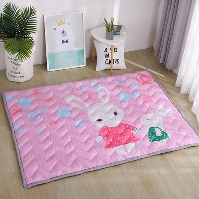 2018新款长方形卡通加厚地垫2.5厘米冬季超厚系列 150*200 兔宝宝的粉色泡泡