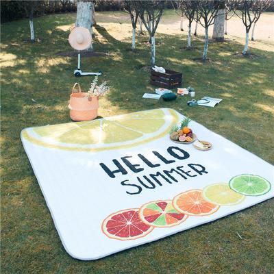 2019新款防水系列野餐垫地垫 1.4*2.0m 夏之柠檬