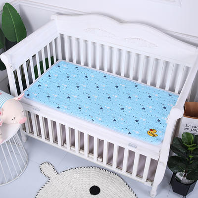 2019新款全棉婴儿隔尿垫 蓝色星星70*90