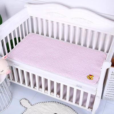2019新款全棉婴儿隔尿垫 粉色波浪60*120