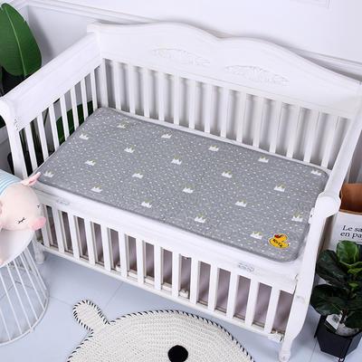 2019新款全棉婴儿隔尿垫 灰色皇冠60*120