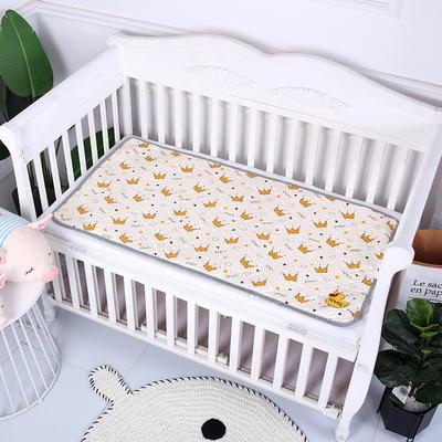 2019新款全棉婴儿隔尿垫 米色皇冠60*120