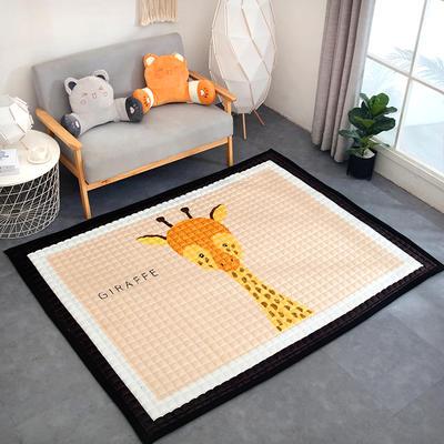 2019新款宝宝绒加厚长方形地垫 150*200 长颈鹿