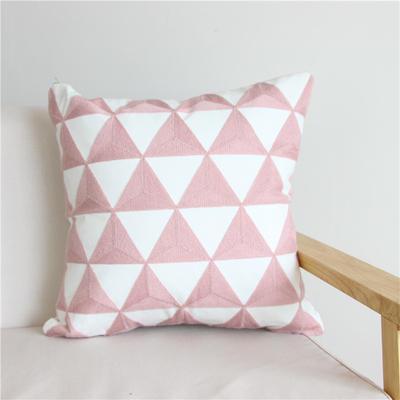 2018新品新增粉色全棉帆布毛巾半绣抱枕(抱枕可拆洗) 45x45cm(无纺布内芯) 粉 格调