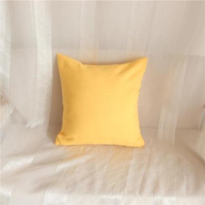 2018新品桌布同款纯色抱枕 45x45cm(单套子) 亮黄