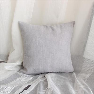 2018新品桌布同款纯色抱枕 45x45cm(单套子) 浅灰