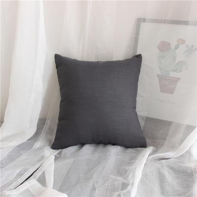 2018新品桌布同款纯色抱枕 45x45cm(单套子) 雅黑