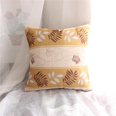 2018新品桌布同款印花抱枕 45x45cm(单套子) 条纹 黄
