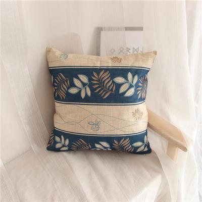2018新品桌布同款印花抱枕 45x45cm(单套子) 条纹蓝