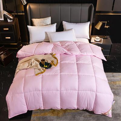 2020新款-亲肤磨毛羽丝绒冬被 1.5*2.0m 6斤 粉色