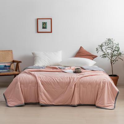 2021新款针织棉夏被纯色 200*230cm 裸粉
