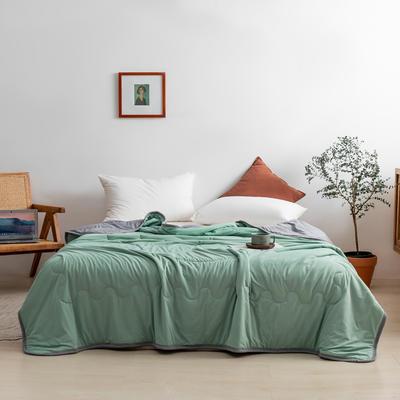 2021新款针织棉夏被纯色 200*230cm 墨绿