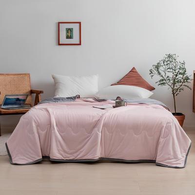 2021新款针织棉夏被纯色 200*230cm 浅粉
