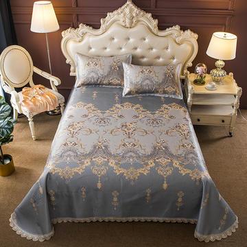 600D提花花边床单款可水洗凉席 250*250cm 古韵