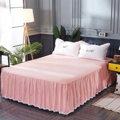 水洗棉床裙 150cmx200cm 粉白