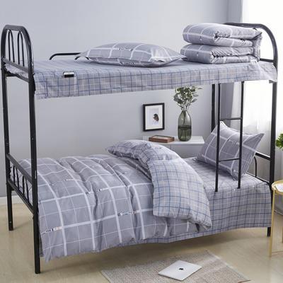 全棉13372宿舍套件  上下铺床品三件套 上下铺套件 上铺通用型 维斯爱语