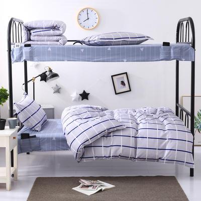 全棉13372学生宿舍套件  学生宿舍床品三件套 单人床品三件套 0.9m床和1.0m床通用款 米凡