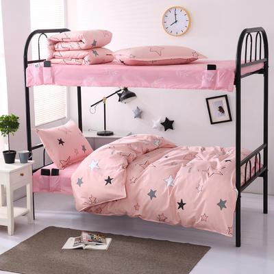 全棉13372学生宿舍套件  学生宿舍床品三件套 单人床品三件套 0.9m床和1.0m床通用款 星空