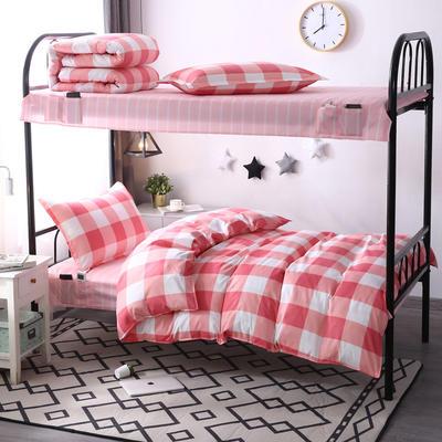 学生套件 学生床品三件套 宿舍床品 单人套件 1.0m床 让爱降临-红