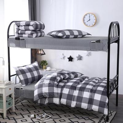 学生套件 学生床品三件套 宿舍床品 单人套件 1.0m床 让爱降临-灰