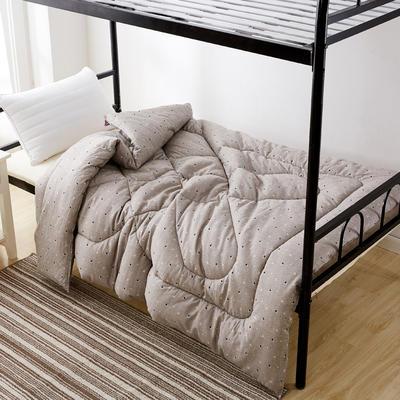 单人被芯 单人棉花被 学生宿舍棉花被 员工宿舍棉花被 150*210cm  5斤 咖色