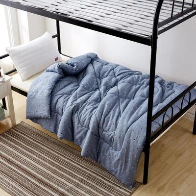 单人被芯 单人棉花被 学生宿舍棉花被 员工宿舍棉花被 150*210cm  5斤 蓝色