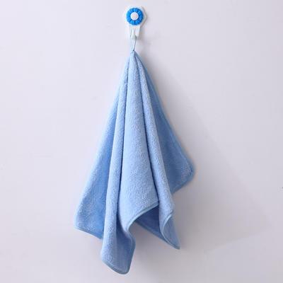 新款擦拭巾 吸水擦拭巾 可挂擦拭巾 学生单人擦拭巾 天蓝色35*74cm
