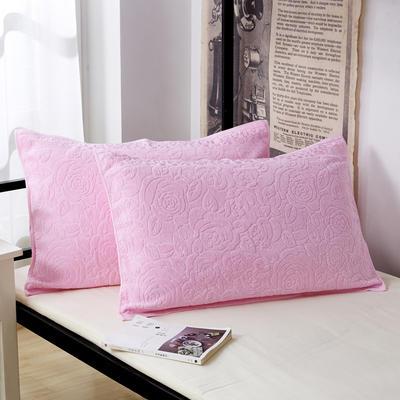 纯棉枕巾 学生枕巾 单人宿舍枕巾 防滑枕巾 粉色53*74