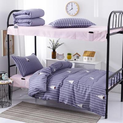 宿舍组合套件  学生床品套件  单人组合套件 宿舍床品 0.9/1.0m床 圣诞树