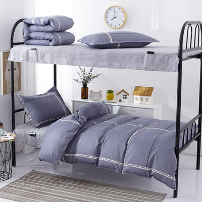 宿舍套件  学生床品套件  单人套件 宿舍床品三件套 0.9/1.0m床 时尚字母