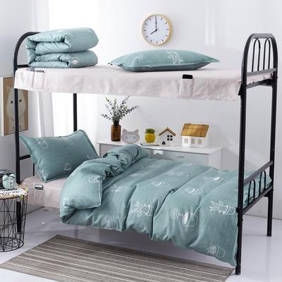 宿舍组合套件  学生床品套件  单人组合套件 宿舍床品 0.9/1.0m床 小小绿植
