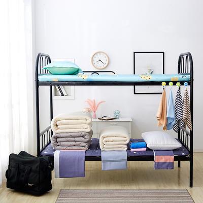 单人床品学生组合套件上下铺床品套件单人套件宿舍组合套件 1.0m床 五件套2