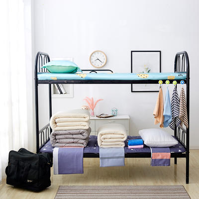 单人床品学生组合套件上下铺床品套件单人套件宿舍组合套件 1.0m床 六件套1
