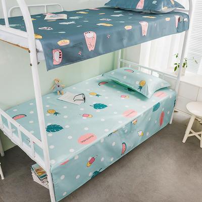 学生凉席 单人凉席 宿舍凉席 可水洗凉席 0.9-1m上下铺通用普通款 甜蜜夏日-兰