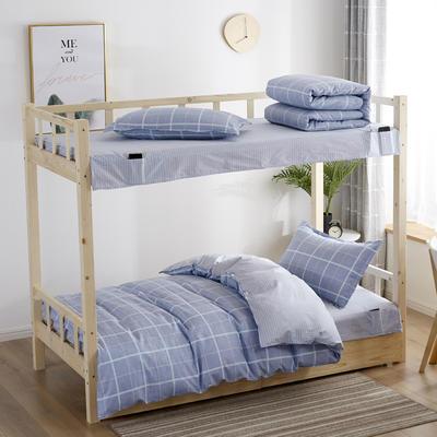 全棉13372学生宿舍套件  学生宿舍床品三件套 单人床品三件套 0.9m床和1.0m床通用款 西溪之恋