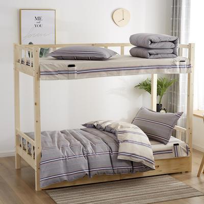 全棉13372学生宿舍套件  学生宿舍床品三件套 单人床品三件套 1.2m(4英尺)床 艺术畅想